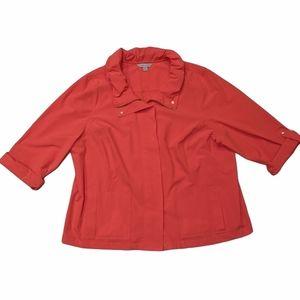 🌞 NWT LAURA ASHLEY Plus-Size Coral Light Jacket